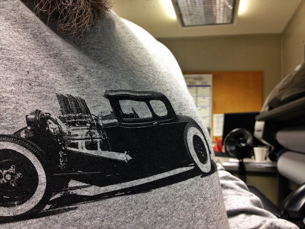 Get your Hot Rod Stencil Shirt ordered today, they are in short supply and will not be reprinted, get one now or don't get one at all! Click here to order one now.