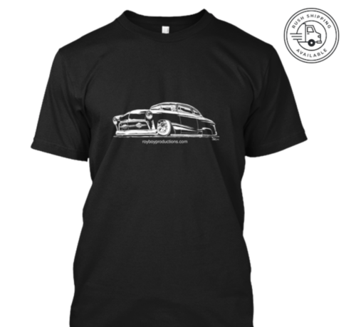 photo of a new t shirt design featuring a 1951 Ford Custom